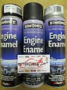 Simoniz spray paint engine enamel mat black 500ml